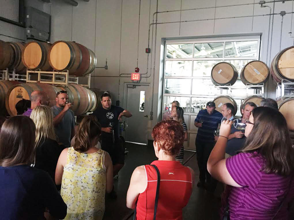 Facility tour with winemaker David Paterson at Tantalus Vineyards in Kelowna.